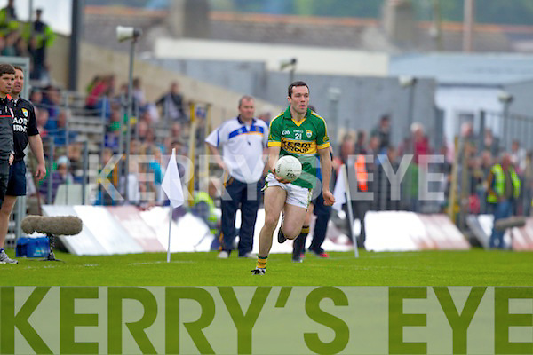 Brian McGuire, Kerry in action against \t0\ in the first round of the Munster Football Championship at Fitzgerald Stadium on Sunday.