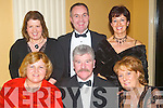 Social: Having a lovely evening at the Annual Furniture Ball at Ballygarry House, Tralee, on Saturday evening were, front: Marie Whelan, Sundays Well, Tralee, Michael Fitzgerald and Marian Fitzgerald, Woodlee, Tralee. Back: Michelle Kevitt, Ballymac, Pat OFlynn and Colette Murphy from Manor..