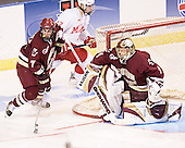Peter Harrold, Cory Schneider - The Boston College Eagles defeated the Miami University Redhawks 5-0 in their Northeast Regional Semi-Final matchup on Friday, March 24, 2006, at the DCU Center in Worcester, MA.