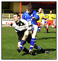27th April 2001   Copyright Pic : James Stewart .Ref :                           .File Name : stewart02-albion rovers v cowdenbeath.KEITH WRIGHT COLLIDES WITH ALBION KEEPER CHRIS FAHEY.....James Stewart Photo Agency, Stewart House, Stewart Road, Falkirk. FK2 7AS      Vat Reg No. 607 6932 25.Office : +44 (0) 1324 630007     Mobile : 07721 416997.Fax     :  +44 (0) 1324 630007.E-mail : jim@jspa.co.uk.If you require further information then contact Jim Stewart on any of the numbers above.........