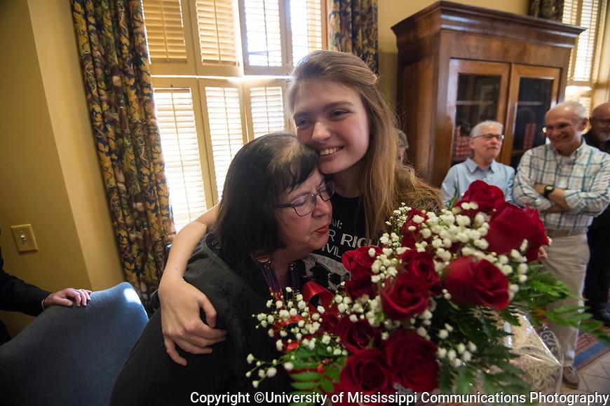 Ole Miss junior Jaz Brisack is awarded a Truman Scholarship.  Photo by Kevin Bain/University Communications Photography