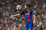Sergi Roberto of FC Barcelona during the match of La Liga between Real Madrid and Futbol Club Barcelona at Santiago Bernabeu Stadium  in Madrid, Spain. April 23, 2017. (ALTERPHOTOS)