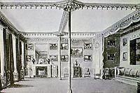 Brighton Pavilion (Royal Pavilion)--Red drawing room. John Nash, architect, 1818-21.