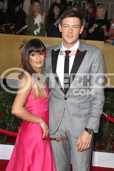 LOS ANGELES, CA - JANUARY 27: Lea Michele and Cory Monteith at The 19th Annual Screen Actors Guild Awards at the Los Angeles Shrine Exposition Center in Los Angeles, California. January 27, 2013. Credit: mpi27/MediaPunch Inc. /NortePhoto /NortePhoto