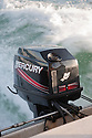 A close up of Mercury Marine outboard motor. Malaysia