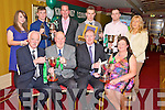Pictured at the Legion GAA social in the Killarney Avenue hotel on Saturday night were Denny Murphy, Michael O'Leary, Hall of Fame, John Keane, clubperson of the Year, Nora Kissane, Michelle Horan, lady player of the year, Chris Davies, senior player of the year,  Enda Walshe, Sean McCarthy, young player of the year, Andy O'Sullivan, junior player of the year and Geraldine Keane.....................