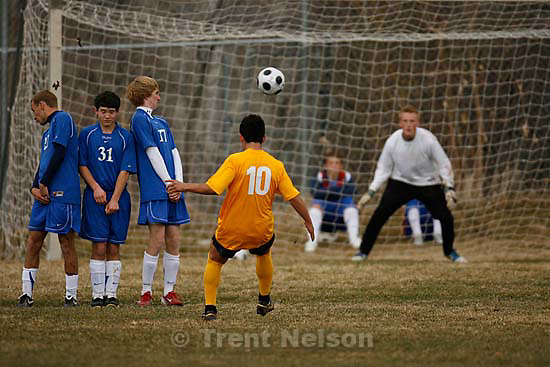 Salt Lake City - Skyline vs. Davis boys high school soccer, Thursday, March 13, 2008.