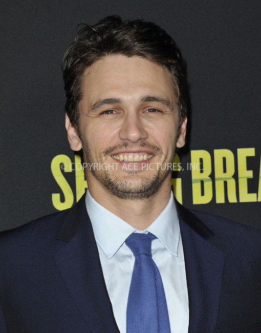 WWW.ACEPIXS.COM....March 14 2013, LA....James Franco arriving at the 'Spring Breakers' Los Angeles Premiere at ArcLight Hollywood on March 14, 2013 in Hollywood, California.......By Line: Peter West/ACE Pictures......ACE Pictures, Inc...tel: 646 769 0430..Email: info@acepixs.com..www.acepixs.com