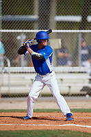 Elijah Cabell (19) while playing for Central Florida Gators based out of Altamonte Springs, Florida during the WWBA World Championship at the Roger Dean Complex on October 19, 2017 in Jupiter, Florida.  Elijah Cabell is a outfielder / third baseman from Winter Park, Florida who attends TNXL Academy.  (Mike Janes/Four Seam Images)