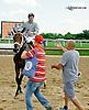 Comforter winning at Delaware Park on 7/30/14 earning Scott Lake his 5500th training win