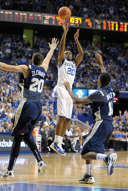 Doron Lamb (20) takes a shot during the first half of the University of Kentucky Basketball game against Chattanooga at Rupp Arena in Lexington, Ky., on 12/17/11.  Photo by Mike Weaver | Staff