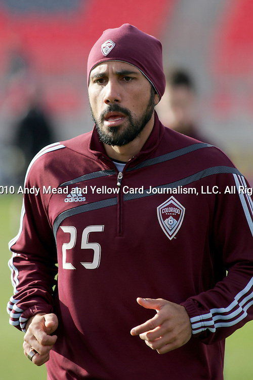 20 November 2010:  Pablo Mastroeni (25) of the Colorado Rapids.  Colorado Rapids held a practice at BMO Field, Toronto, Ontario, Canada as part of their preparations for MLS Cup 2010, Major League Soccer's championship game.