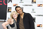 "As The World Turns' Ellen Dolan poses with Another World's Bronson Picket ""Diego Santana"" and As The World Turns' Scott Guthrie"" (all in the film) at The private Industry Screening of ""The Southside"", A Lany Film Tribute to Robert Areizaga, Jr. on February 27, 2012 at Tribeca Cinemas, New York City, New York.  (Photo by Sue Coflin/Max Photos)"