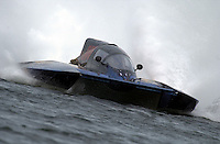 Regates de Valleyfield, 6-8 July,2001 Salaberry de Valleyfield, Quebec, Canada.Copyright©F.Peirce Williams 2001.Scott Kropfeld, GP-555, Grand Prix class hydroplane..F. Peirce Williams .photography.P.O.Box 455  Eaton, OH 45320.p: 317.358.7326  e: fpwp@mac.com