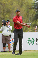 Tiger Woods (USA) watches his tee shot on 18 during round 4 of the World Golf Championships, Mexico, Club De Golf Chapultepec, Mexico City, Mexico. 2/24/2019.<br /> Picture: Golffile | Ken Murray<br /> <br /> <br /> All photo usage must carry mandatory copyright credit (© Golffile | Ken Murray)