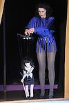 Ni vu ni connu....Conception générale et interprétation Claudia Triozzi..Création musicale Claudia Triozzi et Fernando Villanueva..Tôle à voix « sculpture des frères Baschet »..Création lumière Yannick Fouassier..Réalisation costumes Jutta Klingel..Instrumentistes..Glass Harp (en live) : Roberto Tiso..Orgue : Ann Dominique Merlet..Réalisation marionnette Thierry Evrard..Ingénieur du son Félix Perdreau..Régisseur plateau Sylvain Labrosse..Dialogue autour d'un mouvement dansé avec Rémy Héritier..Lieu : Centre Georges Pompidou..Ville : PARIS..Le : 13 04 2010..© Laurent PAILLIER / photosdedanse.com..All rights reserved
