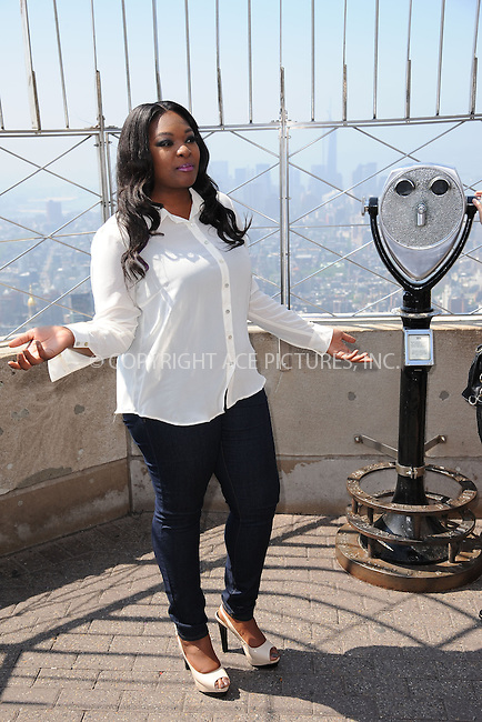 WWW.ACEPIXS.COM . . . . . .May 21, 2013...New York City....Candice Glover at the Empire State Building on May 21, 2013 in New York City. ....Please byline: KRISTIN CALLAHAN - WWW.ACEPIXS.COM.. . . . . . ..Ace Pictures, Inc: ..tel: (212) 243 8787 or (646) 769 0430..e-mail: info@acepixs.com..web: http://www.acepixs.com .