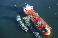Deutschland, Hamburg, Harburg, Oel, Hafen, Elbe, Seehafen 4, Oelverladung, Tanker, Tankschiff, Tove Knudsen, Shell