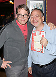 Matthew Broderick and Marc Shaiman attends the Seth Rudetsky Book Launch Party for 'Seth's Broadway Diary' at Don't Tell Mama Cabaret on October 22, 2014 in New York City.