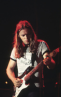 David Gilmour of the rock group Pink Flyod performs live,with Pink Floyd.