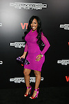 "Recording Artist and VH1 Love & Hip Hop's K. Michelle  Long Sleeve Berry Mesh dress by Jean Paul Gaultier and Kate Spade satin bicolor heels Attends VH1 Original Movie ""CrazySexyCool: The TLC Story"" Red Carpet Premiere Held at AMC Loews Lincoln Square, NY"