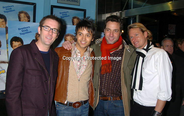 "Ted Allen, Jai Rodriguez, Thom Filicia and Carson Kressley..at a Special Screening of ""Stuck On You"" on December 8, 2003 at the Chelsea West Theatre. Photo by Robin Platzer, Twin Images"