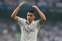 Real Madrid's Colombian midfielder James Rodriguez