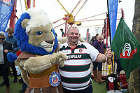 Bath Rugby mascot Maximus mingling with the crowds. The Clash, Aviva Premiership match, between Bath Rugby and Leicester Tigers on April 7, 2018 at Twickenham Stadium in London, England. Photo by: Patrick Khachfe / Onside Images