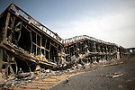 A new hotel with 1200 rooms was bombed in Sirte, Libya, Oct. 25, 2011. Most buildings in Sirte seemed to have some damage, from having bullet and shrapnel holes, to being completely destroyed like this hotel.