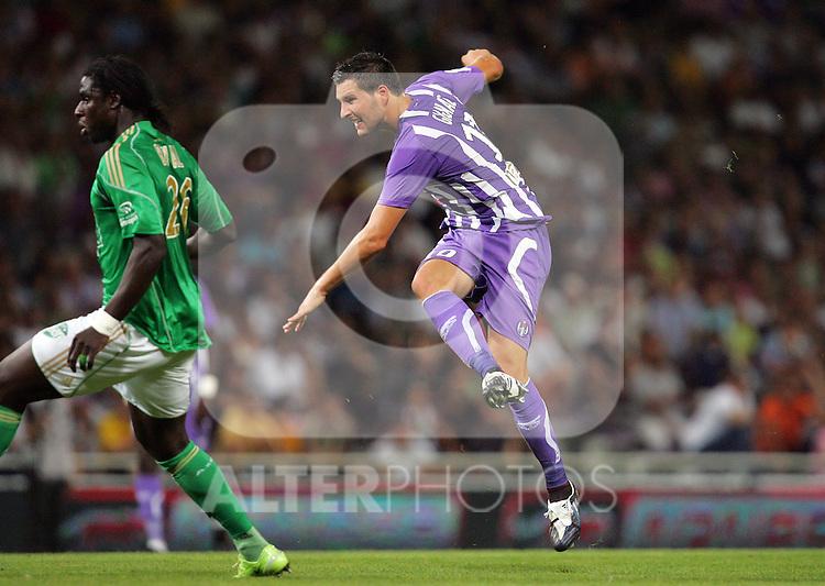 Andre-Pierre Gignac shots and scores. Toulouse v Saint Etienne (3-1), 2eme Journee, Ligue 1 2009/2010, Stade Municipal, Toulouse, France, 15th August 2009.