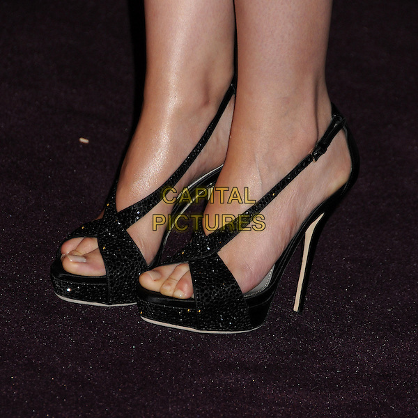Ginnifer Goodwin's shoes .at The LACMA 2012 Art and Film Gala held at LACMA in Los Angeles, California, USA, October 27th 2012..detail feet black shoes heels sparkly sandals .CAP/ADM/BP.©Byron Purvis/AdMedia/Capital Pictures.