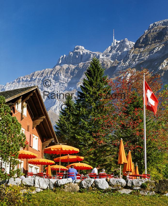 Schweiz, Kanton St. Gallen, Schwaegalp: Start der Luftseilbahn Schwaegalp–Saentis | Switzerland, Canton St. Gallen, Schwaegalp: starting point of aerial cable car 'Schwaegalp–Saentis'