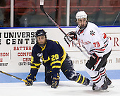 Ryan Flanigan (Merrimack - 20), Cody Ferriero (Northeastern - 79) - The visiting Merrimack College Warriors defeated the Northeastern University Huskies 4-3 (OT) on Friday, February 4, 2011, at Matthews Arena in Boston, Massachusetts.