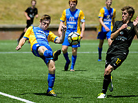 Action from the National Youth League Football match between Team Wellington and Southern United at Ole Academy in Porirua, Wellington, New Zealand on Saturday, 16 December 2017. Photo: Dave Lintott / lintottphoto.co.nz
