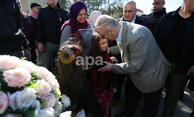 Palestinian Prime Minister Rami Hamdallah attends the opening ceremony of a project in the desalination and Sanitation, in the West Bank city of Jenin, February 4, 2019. Photo by Prime Minister Office
