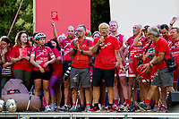 Palermo (Sicily - Italy), 18/07/2017. &quot;L'Agenda Ritrovata&quot; (the Re-found Notebook) cycle relay arrives in Palermo's Via D'Amelio. ...<br />