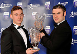Pictured at the Bord G&aacute;is Energy Munster GAA Sports Star of the Year Awards in The Malton Hotel, Killarney on Saturday night were front from left, James O'Donoghue, Legion, Killarney,  Footballer of the Year award and Richie McCarthy, Hurler of the Year award.<br /> Picture by Don MacMonagle<br /> <br /> PR photo from Munster Council