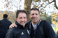 TUKWILA, WA - NOVEMBER 08: Assistant coach Preki of the Seattle Sounders FC and Tony Meola of SiriusXM pose for a photo at Starfire Sports Complex on November 08, 2019 in Tukwila, Washington.