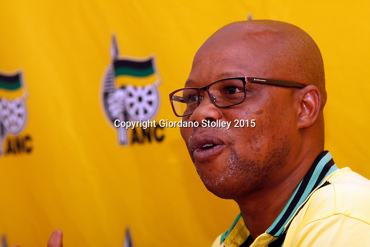 DURBAN - 24 November 2015 - Super Zuma, the newly elected party secretary of the African National Congress in KwaZulu-Natal tells the media that supporters of KwaZulu-Natal premier Senzo Mchunu could face disciplinary action for marching on the party's provincial headquarters. Zuma is not related to the South Africa's President Jacob Zuma. Picture: Allied Picture Press/APP