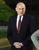 White House Chief of Staff John Kelly awaits the arrival of United States President Donald J. Trump who will welcome Kim Dong Chul, Kim Hak Song and Tony Kim back to the US at Joint Base Andrews in Maryland on Thursday, May 10, 2018.  The three men were imprisoned in North Korea for periods ranging from one and two years.  They were released to US Secretary of State Mike Pompeo as a good-will gesture in the lead-up to the talks between President Trump and North Korean leader Kim Jong Un.<br /> Credit: Ron Sachs / CNP