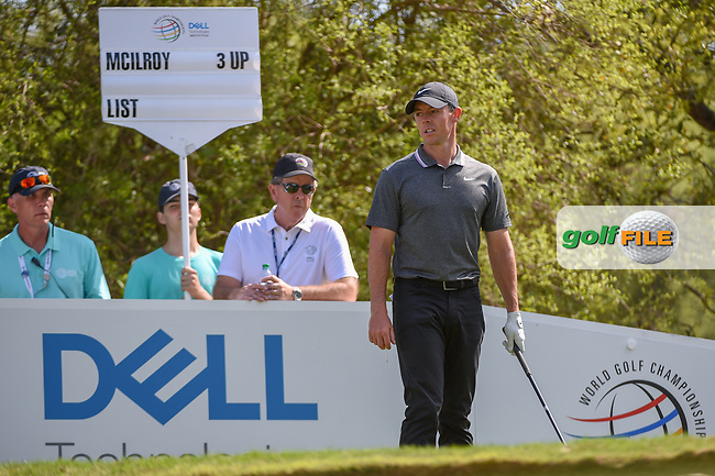 Rory McIlroy (NIR) looks over his tee shot on 12 during day 1 of the WGC Dell Match Play, at the Austin Country Club, Austin, Texas, USA. 3/27/2019.<br /> Picture: Golffile | Ken Murray<br /> <br /> <br /> All photo usage must carry mandatory copyright credit (© Golffile | Ken Murray)
