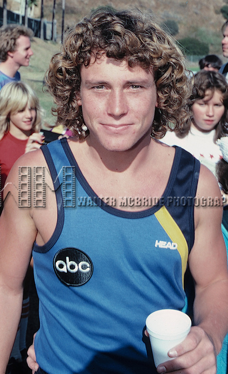 "Willie Aames.Taping ""BATTLE OF THE NETWORK STARS"" .in Malibu, California..September 1982.© Walter McBride /"