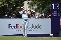 Jason Day (AUS) on the 13th tee during the 2nd round at the WGC Fedex St Jude Invitational, TPC Southwinds, Memphis, Tennessee, USA. 26/07/2019.<br /> Picture Ken Murray / Golffile.ie<br /> <br /> All photo usage must carry mandatory copyright credit (© Golffile | Ken Murray)