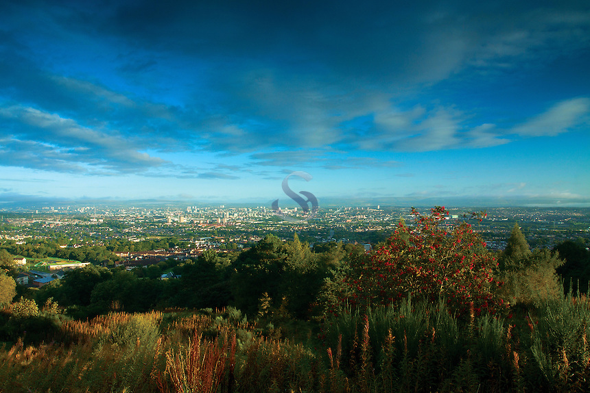 Glasgow and the Campsie Fells from Cathkin Braes Country Park, Glasgow
