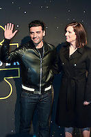"Actor Oscar Isaac and producer Kathleen Kennedy parade red carpet event to promote the Fan ""Star Wars: The Force wakes"" at Antara Fashion Mall in Mexico City, Tuesday, December 8, 2015. Photo: ©Francisco Morales/DAMMPHOTO/NortePhoto"