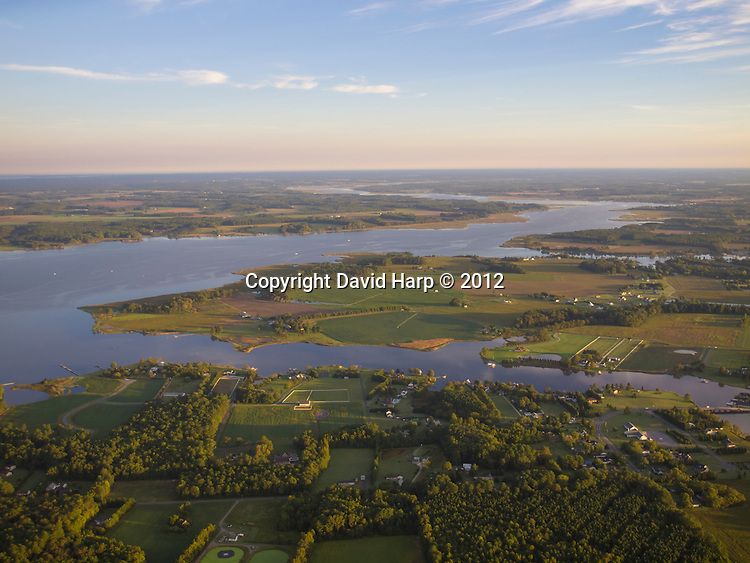 Choptank River, looking upstream from the Secretary,MD area