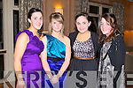 SOCIAL: Enjoying a great time at the Ballydesmond GAA annual social at the Ballygarry House hotel on Saturday l-r: Mairead Brosnan, Katie Sheehan, Marion Brosnan and Christine Collins.
