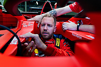 30th July 2020, Silverstone, Northampton, UK;  FIA Formula One World Championship 2020, Grand Prix of Great Britain, Sebastian Vettel GER, Scuderia Ferrari Mission Winnow