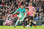Neymar da Silva Santos Junior of FC Barcelona competes for the ball with Xabier Etxeita Gorritxategi of Athletic Club during their Copa del Rey Round of 16 first leg match between Athletic Club and FC Barcelona at San Mames Stadium on 05 January 2017 in Bilbao, Spain. Photo by Victor Fraile / Power Sport Images