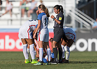 Bradenton, FL - Friday, June 08, 2018: Croix Bethune, injury during a U-17 Women's Championship match between the United States and Canada at IMG Academy.  USA defeated Canada 1-0 to take top spot in their group and advance to the semifinals.